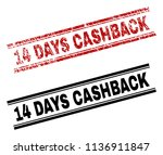 14 days cashback stamp seal... | Shutterstock .eps vector #1136911847