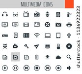 big multimedia icon set | Shutterstock .eps vector #1136922323