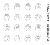 deep learning. artificial... | Shutterstock .eps vector #1136979833