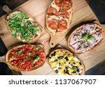 italian cuisine  bruschetta | Shutterstock . vector #1137067907