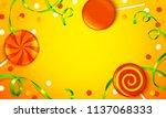 beautiful halloween background... | Shutterstock .eps vector #1137068333