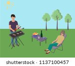 picnic romantic family | Shutterstock .eps vector #1137100457