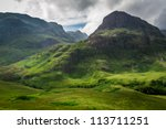 Summer in in the Scotland highlands - stock photo