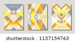 set of cover page layouts ... | Shutterstock .eps vector #1137154763