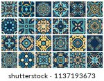 vector tiles patterns. seamless ... | Shutterstock .eps vector #1137193673