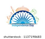 indian independence day design... | Shutterstock .eps vector #1137198683