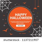 happy halloween .template of a ... | Shutterstock .eps vector #1137211907