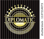 diplomatic gold emblem or badge | Shutterstock .eps vector #1137214073