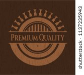 premium quality badge with... | Shutterstock .eps vector #1137235943