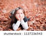 cute kid girl 4 5 year old...   Shutterstock . vector #1137236543