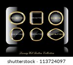 golden shiny  label  vector... | Shutterstock .eps vector #113724097