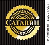 catarrh gold emblem or badge | Shutterstock .eps vector #1137247337