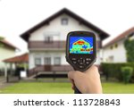 heat loss detection of the...   Shutterstock . vector #113728843