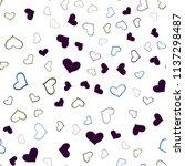 dark multicolor vector seamless ... | Shutterstock .eps vector #1137298487