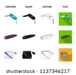 a fingerprint study  a folding... | Shutterstock .eps vector #1137346217