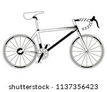 racing bicycle silhouette | Shutterstock .eps vector #1137356423