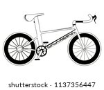 racing bicycle silhouette | Shutterstock .eps vector #1137356447