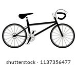 racing bicycle silhouette | Shutterstock .eps vector #1137356477