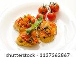 food dish bruschetta cherry... | Shutterstock . vector #1137362867