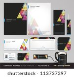 corporate identity business set.... | Shutterstock .eps vector #113737297