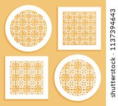 templates for laser cutting ... | Shutterstock .eps vector #1137394643