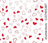 light red vector seamless... | Shutterstock .eps vector #1137401387