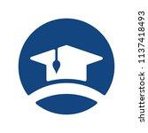 graduation hat icon. education... | Shutterstock .eps vector #1137418493