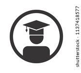 graduation hat icon. education... | Shutterstock .eps vector #1137418577