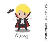 cute vampire dracula cartoon.... | Shutterstock .eps vector #1137440147