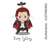 cute vampire dracula cartoon.... | Shutterstock .eps vector #1137440303