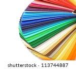 color guide spectrum swatch... | Shutterstock . vector #113744887