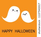 two flying floating ghost... | Shutterstock .eps vector #1137543317