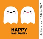 ghost spirit family couple with ... | Shutterstock .eps vector #1137543377