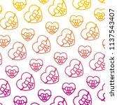 degraded line beauty heart with ...   Shutterstock .eps vector #1137543407