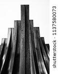geometrical drawing. welding of ... | Shutterstock . vector #1137580073