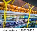 barajas  madrid  spain  07 19... | Shutterstock . vector #1137580457