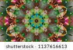 geometric design  mosaic of a... | Shutterstock .eps vector #1137616613