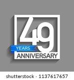 49 years anniversary...   Shutterstock .eps vector #1137617657