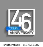 46 years anniversary...   Shutterstock .eps vector #1137617687