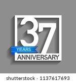 37 years anniversary...   Shutterstock .eps vector #1137617693