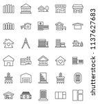 thin line vector icon set  ... | Shutterstock .eps vector #1137627683