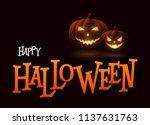 banner cartoon halloween... | Shutterstock .eps vector #1137631763