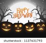 banner cartoon halloween... | Shutterstock .eps vector #1137631793