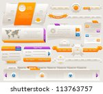web elements vector design set | Shutterstock .eps vector #113763757