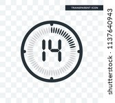 the 14 minutes vector icon... | Shutterstock .eps vector #1137640943
