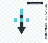 down arrow vector icon isolated ...