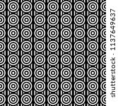 seamless pattern with circles... | Shutterstock .eps vector #1137649637