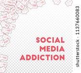 social media icons. social... | Shutterstock .eps vector #1137660083