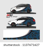 vehicle graphic kit. abstract... | Shutterstock .eps vector #1137671627