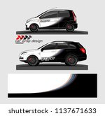 vehicle graphic kit. abstract... | Shutterstock .eps vector #1137671633